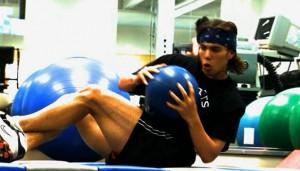 Apolo Ohno training
