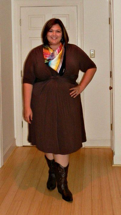 Plus Size Dresses with Cowboy Boots | Fashion Ideas