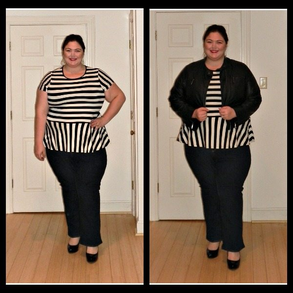 ASOS Curve Striped Peplum Top via Gwynnie Bee