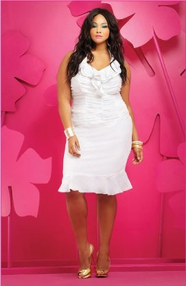 Ashley Stewart Plus Size White Dress