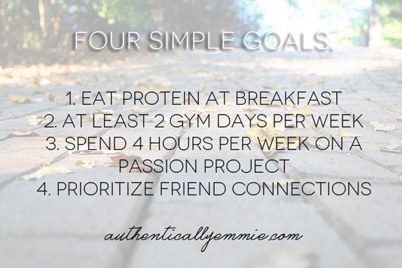 4 Simple Goals 2013