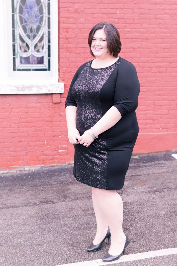 Karen Kane Contrast Sequin Dress from Gwynnie Bee on Authentically Emmie