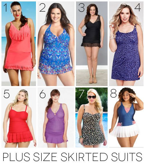 Plus size skirted swimsuits