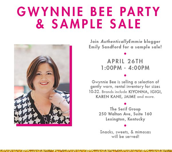 Gwynnie Bee Party and Sample Sale