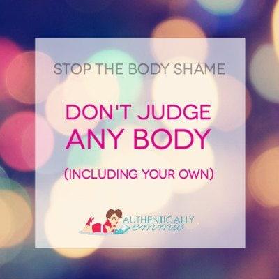 don't judge any body