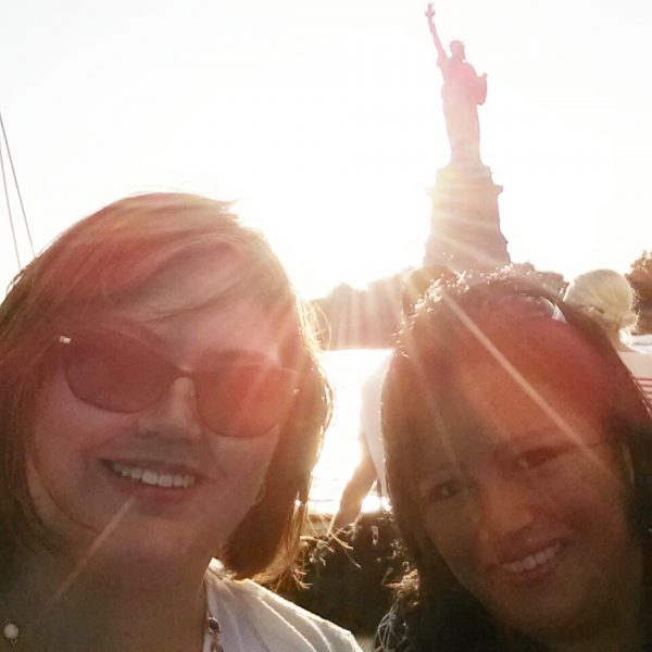 Photobombed by the Statue of Liberty