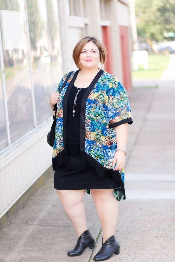 SWAK Janis Fringe Kimono on Authentically Emmie