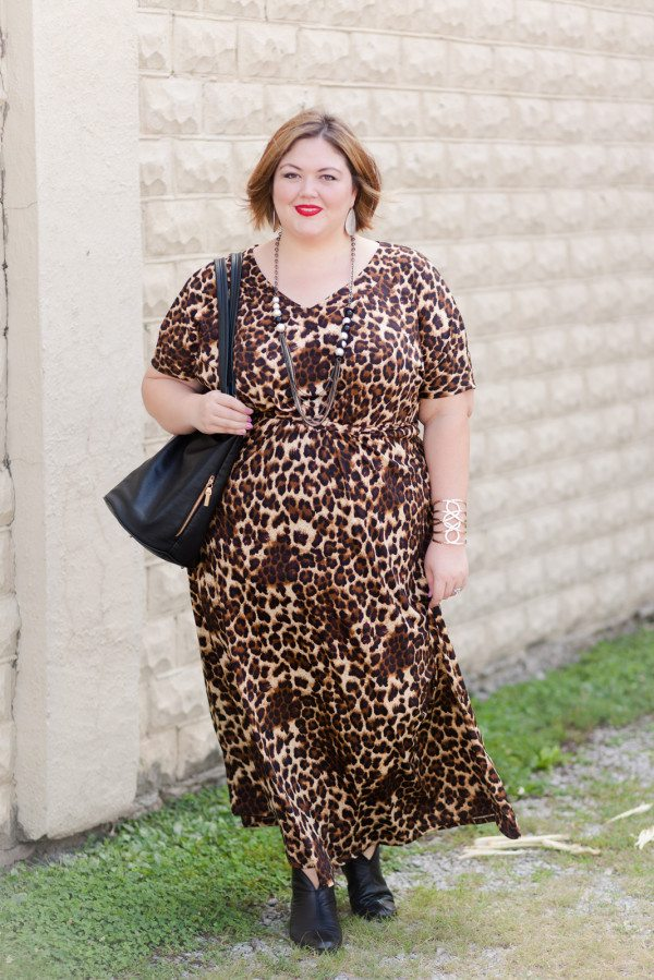 IGIGI Elissa Plus Size Maxi Dress in Mocha Leopard on Authentically Emmie