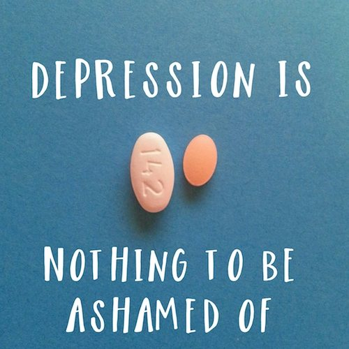 Depression is nothing to be ashamed of.