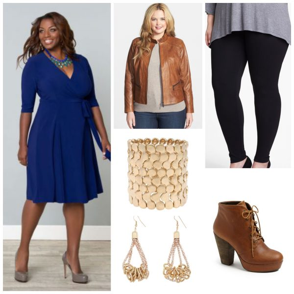 Style a basic wrap dress for fall