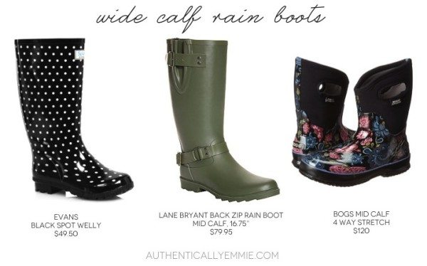 Rain Boots Large Calves