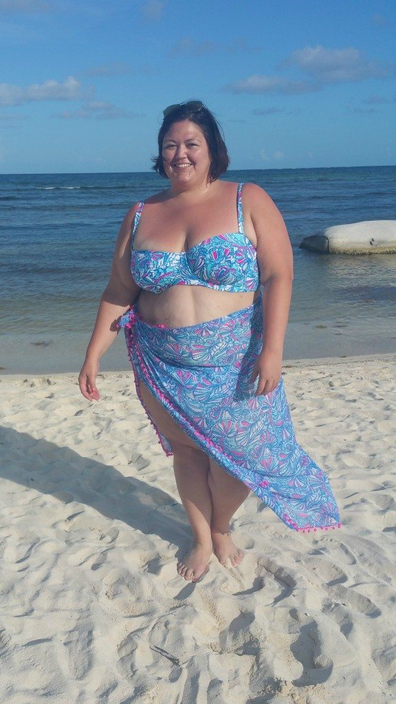 Authentically Emmie in a plus size Lilly Pulitzer for Target bikini
