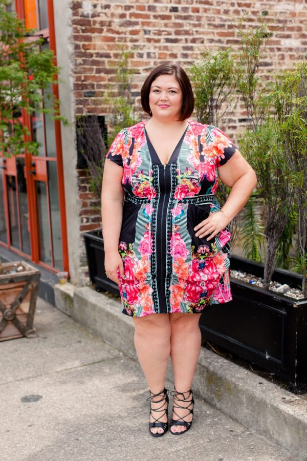 Authentically Emmie in a City Chic Tunic from Gwynnie Bee