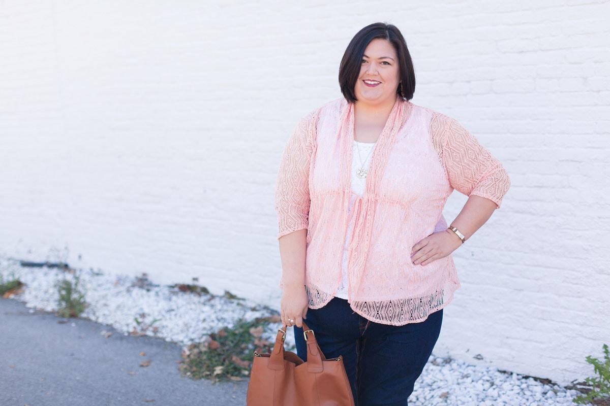Kiyonna Bohmenian Crochet Bellini in Blushing Pink