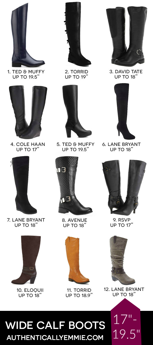 "Wide Calf Plus Size Boots Over 17"" Calf"