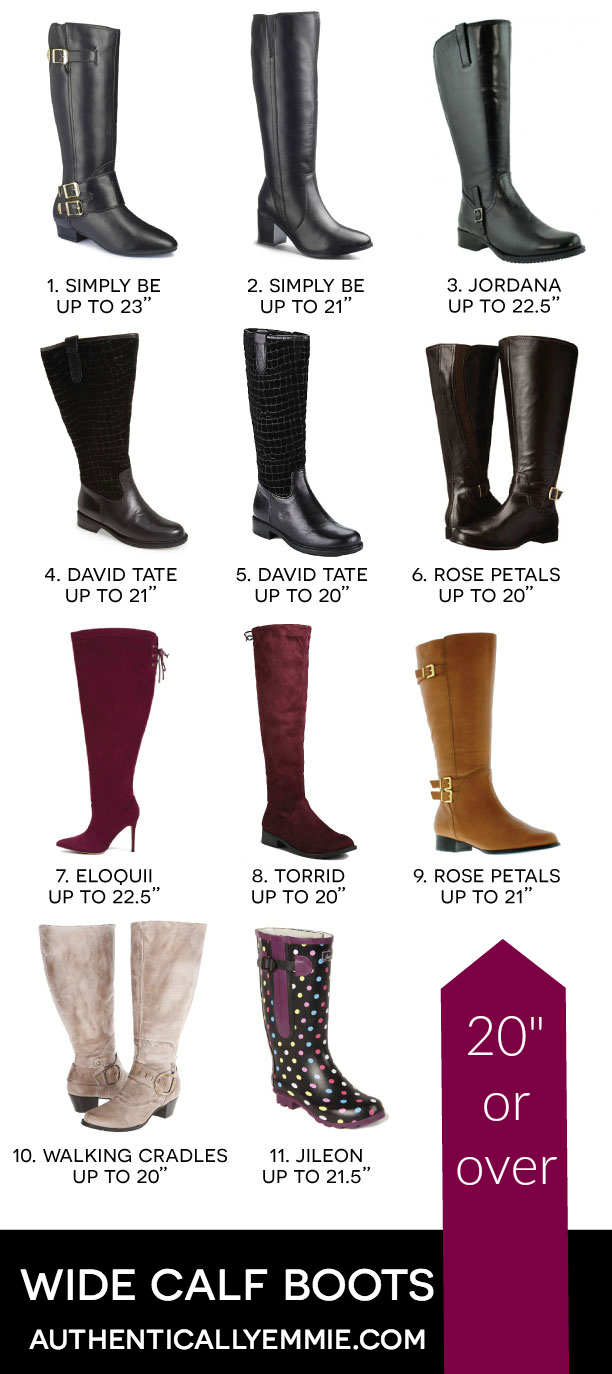 """Wide Calf Plus Size Boots Over 20"""" Calf"""