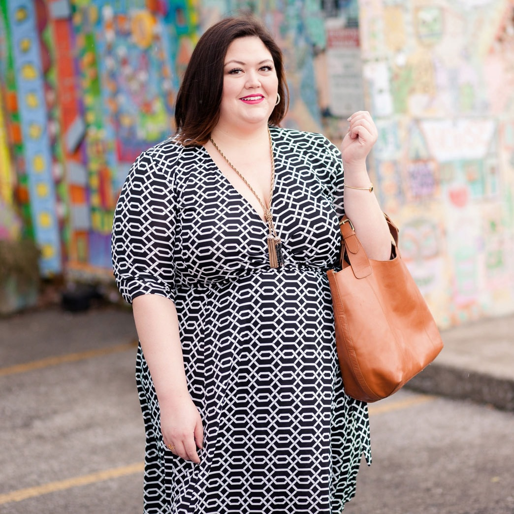 Kiyonna Essential Wrap Dress on Authentically Emmie