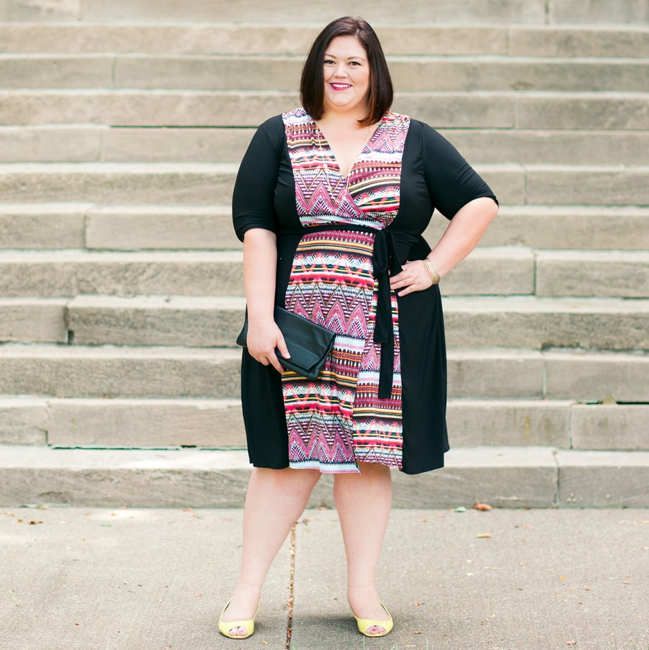 Kiyonna In The Mix Wrap Dress on Authentically Emmie
