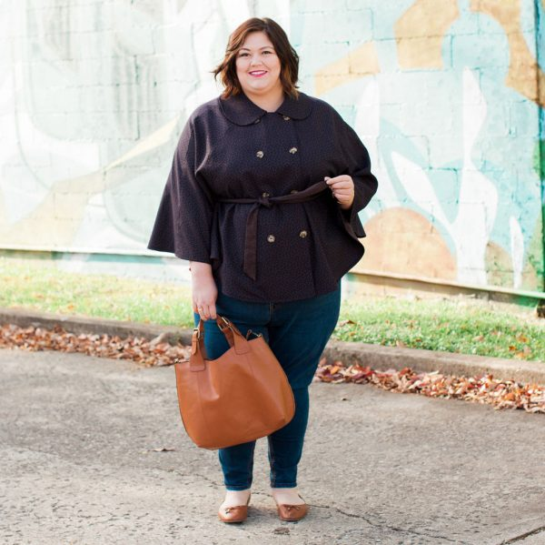 Authentically Emmie in a Melissa McCarthy cape from Gwynnie Bee