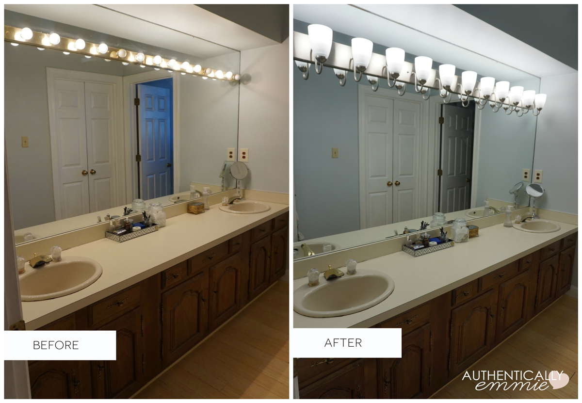 how to change a bathroom vanity light fixture replacing a light fixture on a vanity mirror 26352