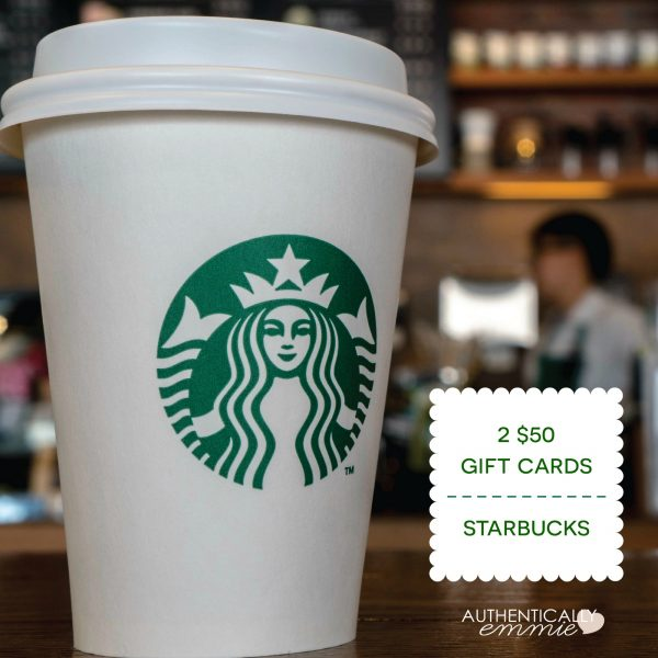 Day 1 Giveaway: Starbucks (CLOSED