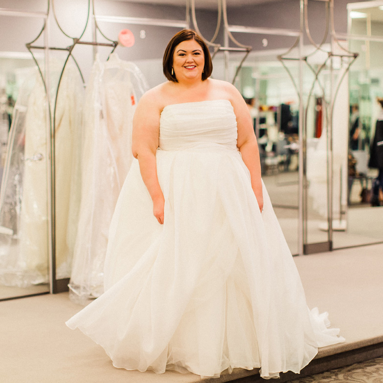39564b917cb Plus Size Wedding Dress Shopping with David s Bridal