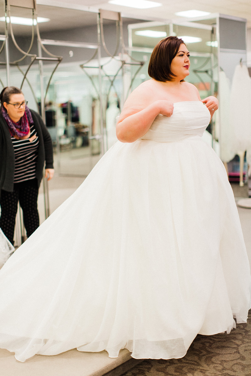 Plus Size Wedding Dress Shopping with David\'s Bridal