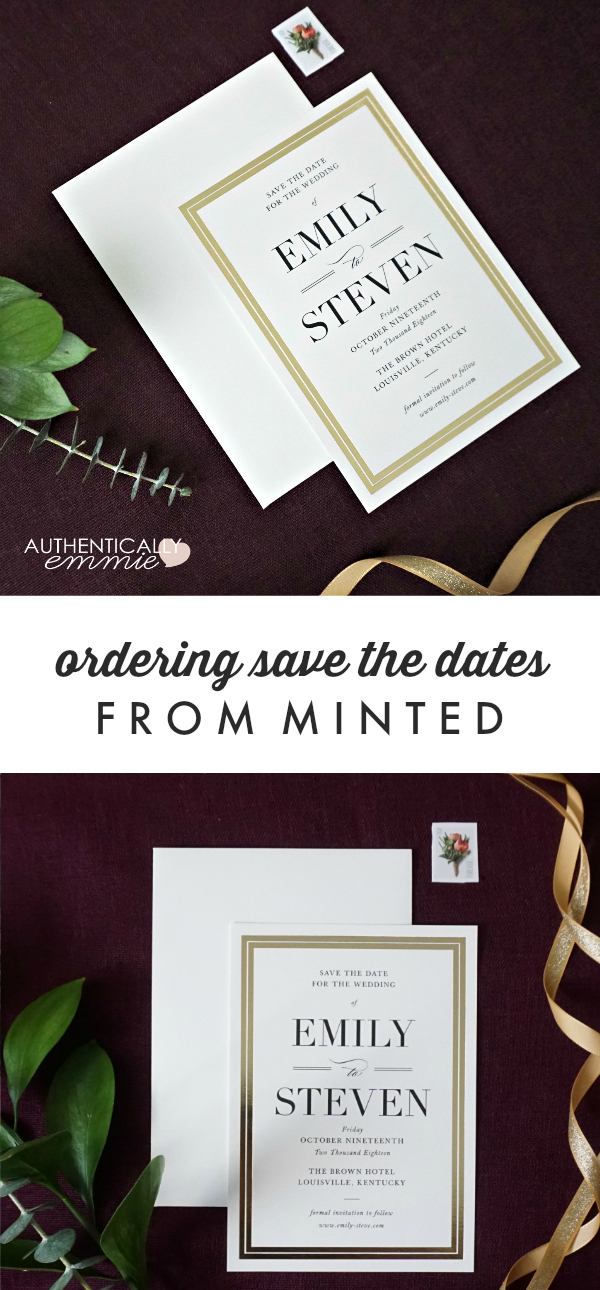 Save the Date Reveal with Minted