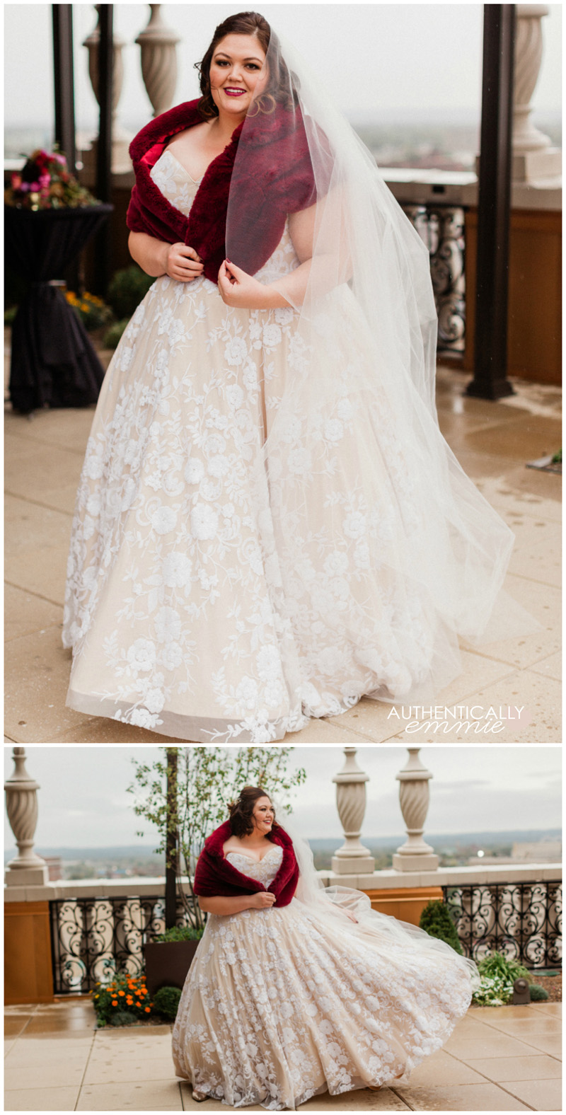 An intimate and elegant wedding at the Brown Hotel in Louisville KY with plus size blogger Authentically Emmie