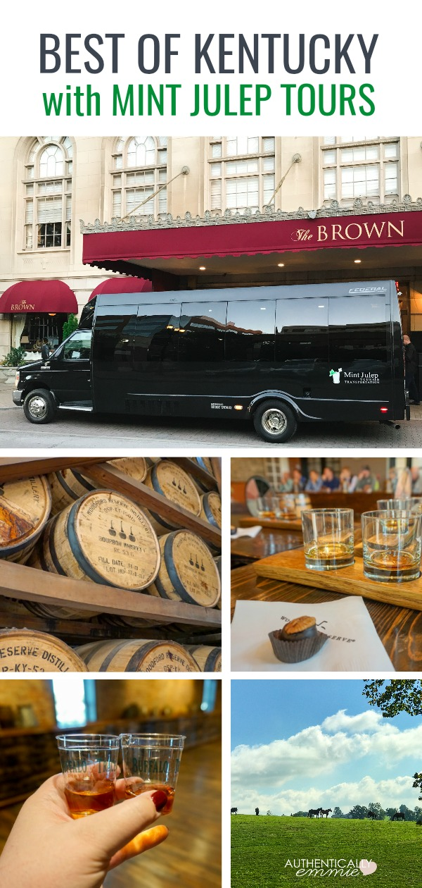 A review of using Mint Julep Tours for a private, customized tour of the best Kentucky farms and distilleries. #kentucky #bourbon