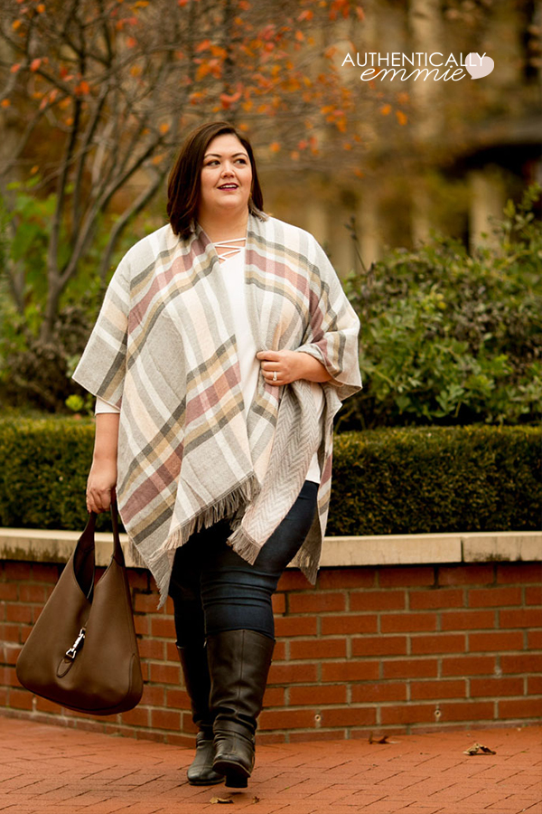 A casual but very cute #plussize outfit idea for fall from Catherine's, as seen on plus size fashion blogger Authentically Emmie