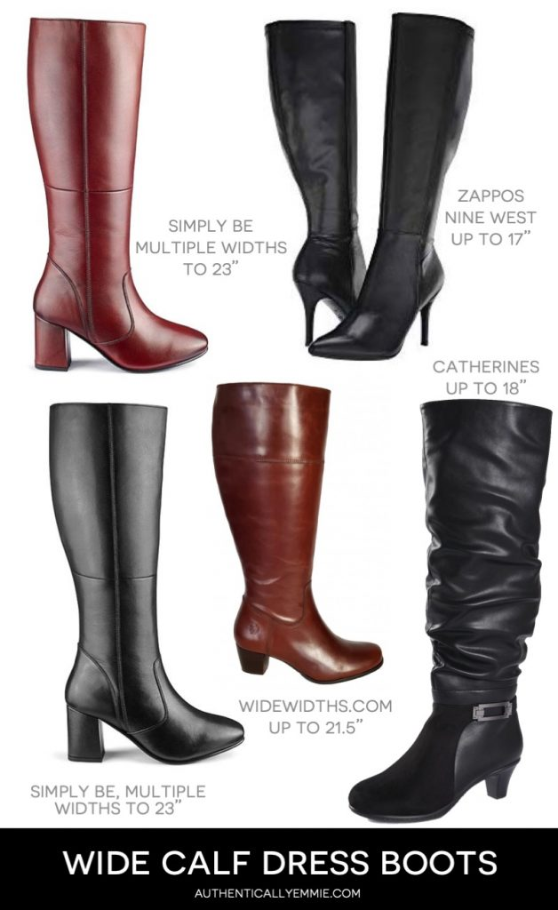 wide calf and extra wide calf dress boots