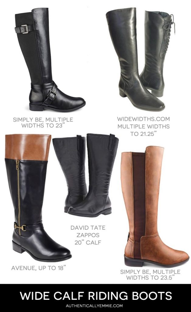 wide calf and extra wide calf riding boots