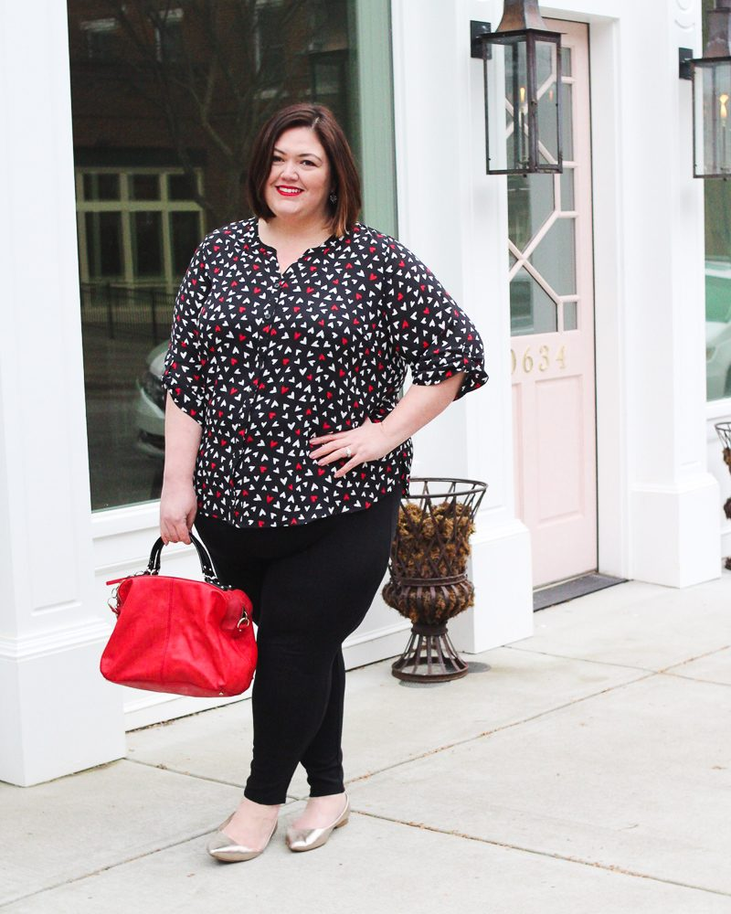 Valentine's Day plus size outfit idea from Catherines