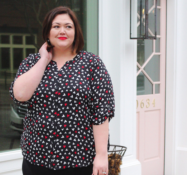 Catherine's plus size outfit idea for Valentine's Day