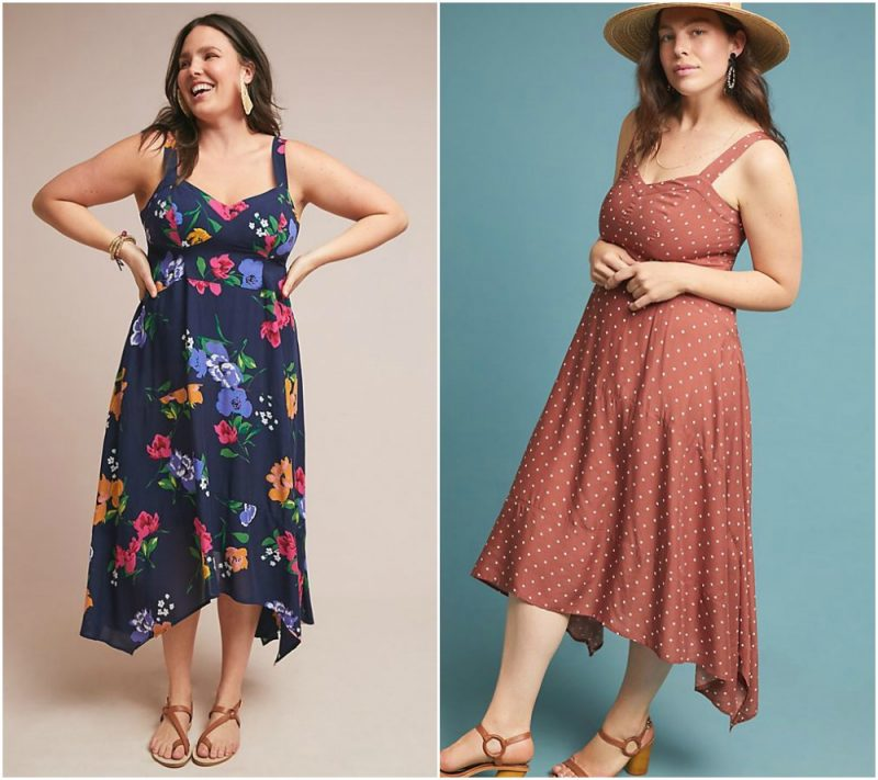 Anthropologie plus size summer dresses