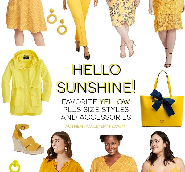 Golden Girl: Yellow Plus Size Styles and Accessories