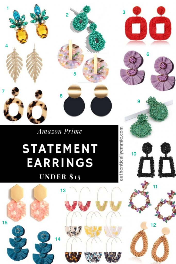 Statement earrings from Amazon
