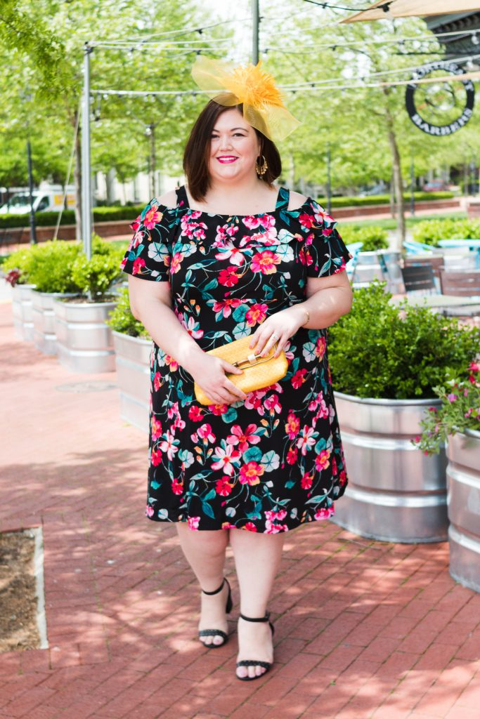 Plus size Kentucky Derby outfit from Catherines on Louisville blogger Authentically Emmie