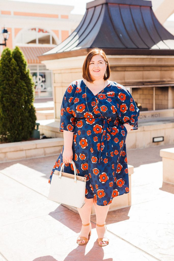 Warm weather eShakti plus size dress
