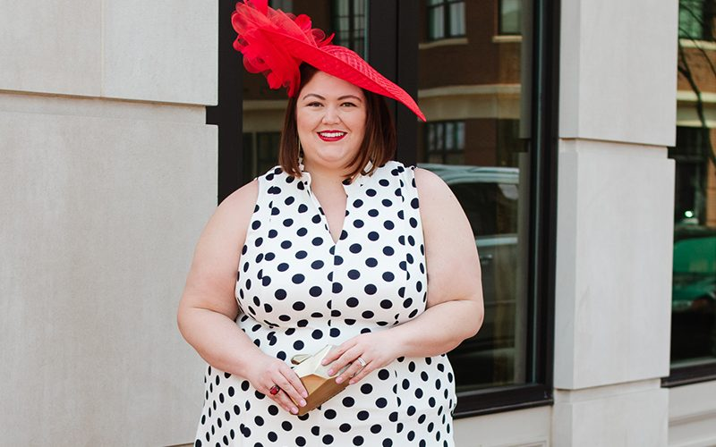 Plus size Derby outfit idea from Macy's