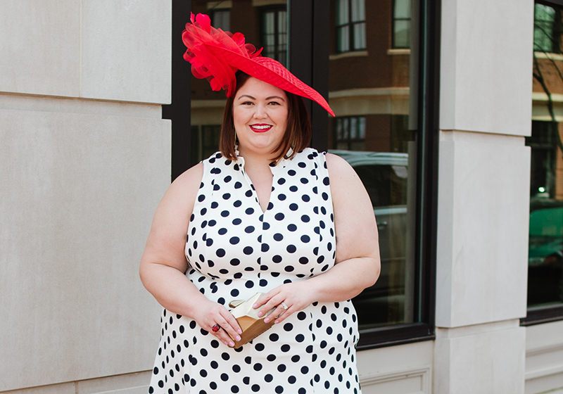 Derby Day Outfit Idea: Red Hot and Polka Dots