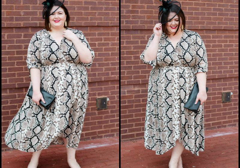 Derby plus size outfit idea from Macy's