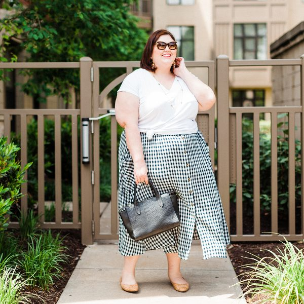 plus size gingham outfit for summer