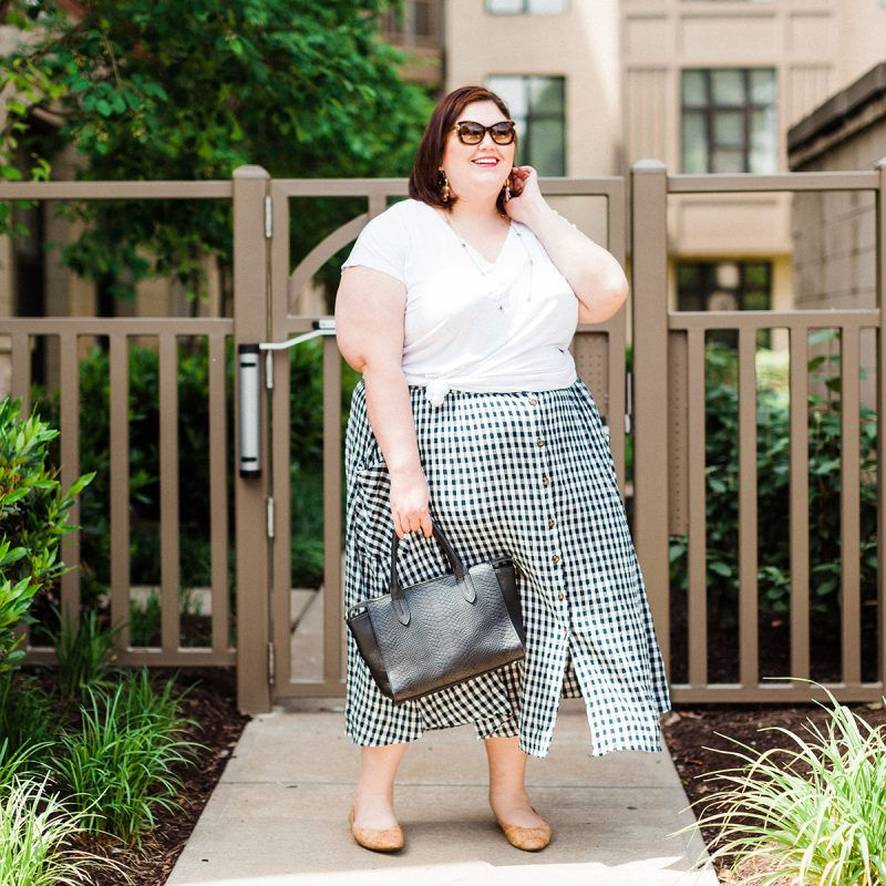 Gingham is great for summer - here's a plus size option