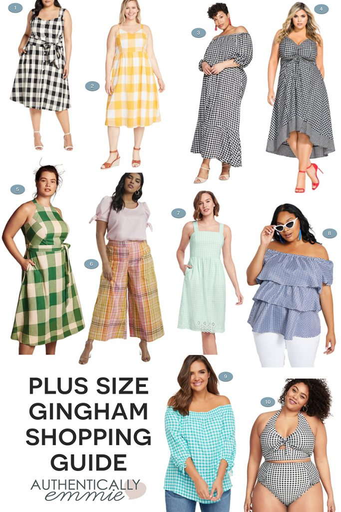 Gingham outfit ideas all available in plus sizes