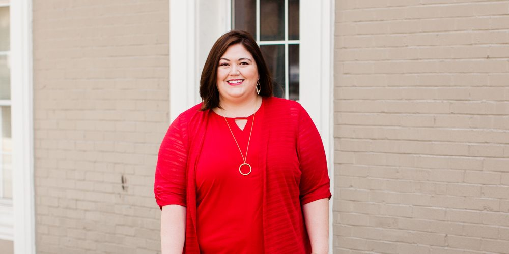 Red plus size casual outfit from Catherines