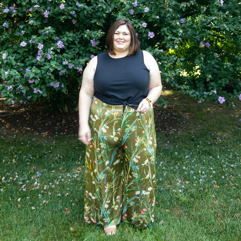 Anthropologie summer outfit idea from plus size blogger Authentically Emmie
