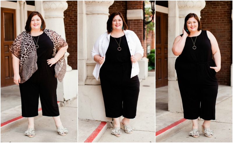 One plus size jumpsuit styled three ways