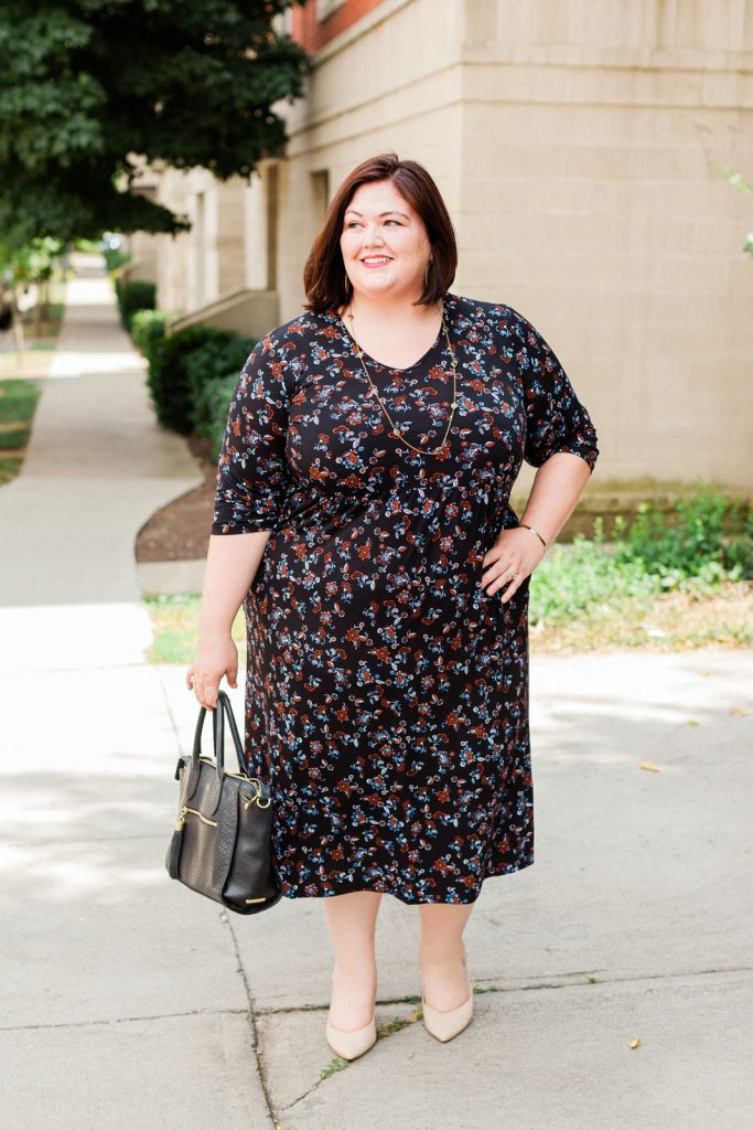 An Ulla Popken plus size dress and fit notes